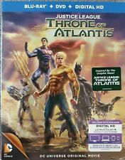 New listing Justice League: Throne of Atlantis (Blu-ray/Dvd, 2-Disc Set, Includes Digital)