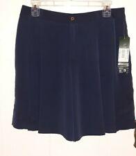 Lauren Ralph Lauren Pleated Silky Dress Shorts Navy Blue sz 6