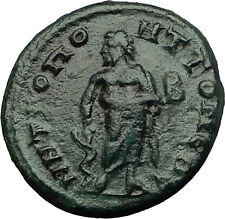 GETA 209AD Tomis ASCLEPIUS Medicine God Authentic Ancient Roman Coin i60719