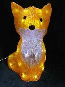 Konstsmide Christmas Light, Acrylic sitting Fox with 32 white LEDs