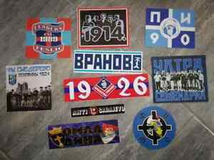 10 x Serbian Football Ultras Stickers