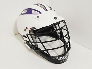 CASCADE C Pro Lacrosse Helmet S/M White/Purple NOCSAE Cert.
