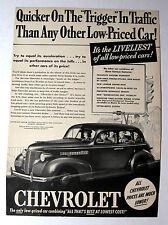 Classic Magazine Ad Original 1939 Chevrolet Automobile Print Advertisement