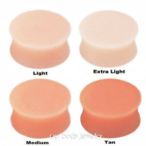 """PAIR Silicone Flexi Double Flared Saddle Ear Plugs Earskin Retainer 3/4"""" 7/8"""""""