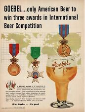 1953 Goebel Beer wins medals awards art Vintage Ad