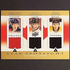 JONATHAN HUBERDEAU  LAUGHTON  RC Rookie 2013/14 Trilogy National Trio #CANROOKF