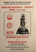 More details for sunderland boys v sheffield boys - english schools trophy final 1st leg -1989/90