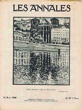 Les annales n°2233 du 11/04/1926 Lyon Edmond Céria Béraud Scize Guignol Achard