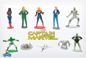 New Marvel CAPTAIN MARVEL Cake Toppers / 10 Figures