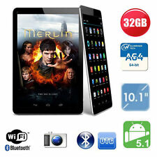 "32 GB 10"" POLLICI QUAD CORE TABLET PC ANDROID + Custodia Flip in Pelle Google HDMI Bundle"