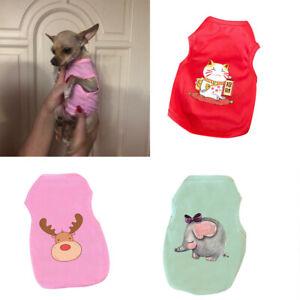 Pet Clothes Summer Thin T Shirt Small Dog Cat Chihuahua Vest Puppy Cartoon Tops