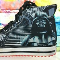 STAR WARS Darth Vader Skechers High Top Shoes Sneakers Youth US Size 3 Dark Side