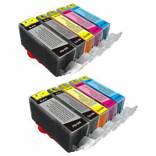 10PK Black & Color PGI-225 CLI-226 Replace Canon Printer Ink PIXMA iX6520 MG5220