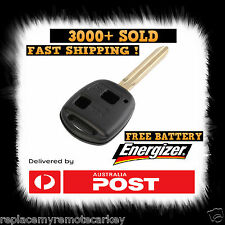 TOYOTA 2 BUTTON BLACK KEY SHELL RAV4 YARIS CELICA ECHO TARAGO