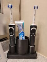 Oral B Electric Toothbrush Holder + BONUS Tube Squeezer - Fast Free Shipping!