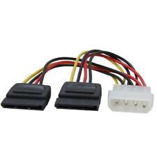 Molex to SATA Power Y Splitter Adaptor Cable Lead 2 Way 4 Pin To 2 x 15 Pin 15cm