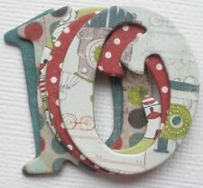Basic Grey OLIVER - Chipboard Alphabet Letters and Die Cuts 1.5""