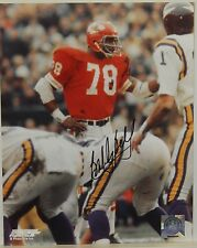 """AUTOGRAPHED 8"""" X 10"""" COLOR PHOTO>NFL FOOTBALL> BOBBY BELL>KANSAS CITY CHIEFS"""