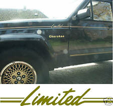 1987-1992 AMC CHRYSLER JEEP XJ CHEROKEE LIMITED STRIPE DECAL STICKER PACKAGE