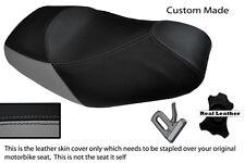 Gris Y Negro Custom encaja Piaggio Mp3 125 250 300 400 500 de doble piel cubierta de asiento