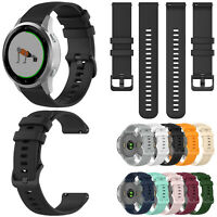 For Garmin Vivoactive 4S/Vivomove 3S GPS Watch Wrist Band Strap Small Plaid 18mm