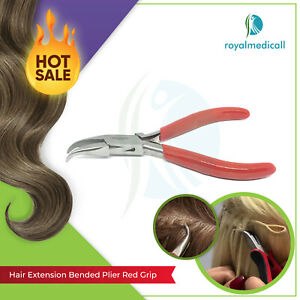 Professional Micro Rings Hair Extensions Pliers Tool Cur Nose Pliers