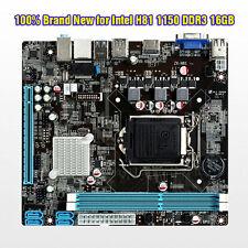 New for Intel H81 LGA 1150 DDR3 16GB Computer Motherboard MicroATX PCIE 2.0 HDMI