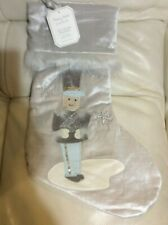 Pottery Barn Kids Monique Lhuillier Toy soldier Christmas Stocking Gray No Mono