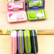 Portable Mini Contact Lenses Case Box Trunk Shape Eyewear Cases Lens Care Box K|