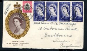 South Africa - 1953 QE2 Coronation Airmail Illustrated First Day Cover