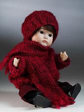 "S.F.B.J 252 Paris reproduction black hair girl doll 12"""