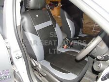 i - TO FIT A NISSAN PRIMERA CAR, S/ COVERS, PVC LEATHER, BLACK/grey 59.99