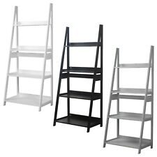 Modena 4 Tier Wooden Ladder Storage Rack Display Stand Shelving Unit Bedroom