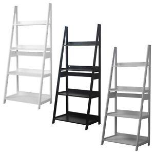 Modena 4 Tier Wooden Ladder Storage Rack Display Stand Shelving Unit Bedroom