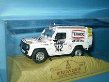 VOITURE MERCEDES 280 GE TEXACO PARIS DAKAR 1983 CLAUDE BRASSEUR JACKY ICKX NOREV