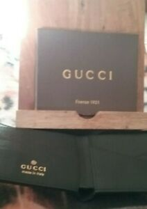 GUCCI MENS WALLET NEW #60895 BLACK WITH BOX