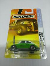 2007 MATCHBOX VOLKSWAGEN BEETLE TAXI CITY ACTION SERIES #56 IN 1/64 SCALE