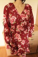 Neues Damen Sommerkleid mit Blumen Gr 44 von Body Flirt Langarm elegant neu