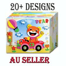 Bulk 5 Pack Kids 3D Eva Sticker Craft DIY Art Kit Party Favor Novelty Toy