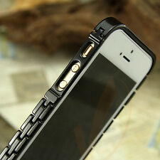 iPhone 5S Case, Apple iPhone 5 5S Case Bumper ULTRA Stainless Steel Bumper Case
