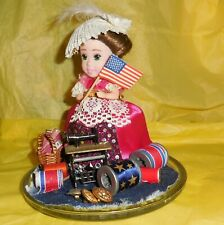 Betsy Ross Doll Art  Mixed Media Assemblage Sewing Machine Patriotic OOAK