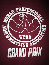 vtg WPAA WORLD PROFESSIONAL ARMWRESTLING ASSOCIATION T SHIRT 70s 80s Grand Prix