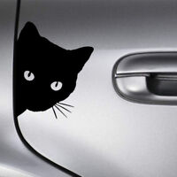 Funny Black Cat Face Peering Car Body Decal Window Bumper Laptop Wall Sticker