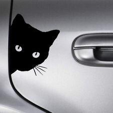 Funny Black Cat Face Peering Car Body Decal Window Bumper Laptop Wall Sticker