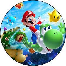 Mario Decoration Gateau Disque Azyme Comestible Anniversaire 20cm
