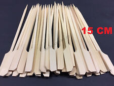 100x Bamboo Catering Paddle Skewers Sticks BBQ Grill Cocktail Picnic Party Picks