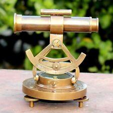 Antique Brass ALIDADE Compass With Telescope Vintage Decor Nautical Instrument