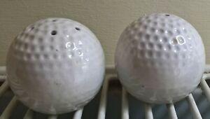 Golf Ball Shaped Ceramic Salt and Pepper Shakers