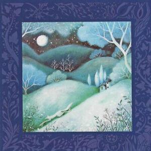 PAGAN WICCAN GREETING CARD Moonlit Tale GODDESS Nature FOX CELTIC AMANDA CLARK