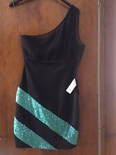 Nuovo vestito abito tubino nero da sera ANNARITA N con paillettes